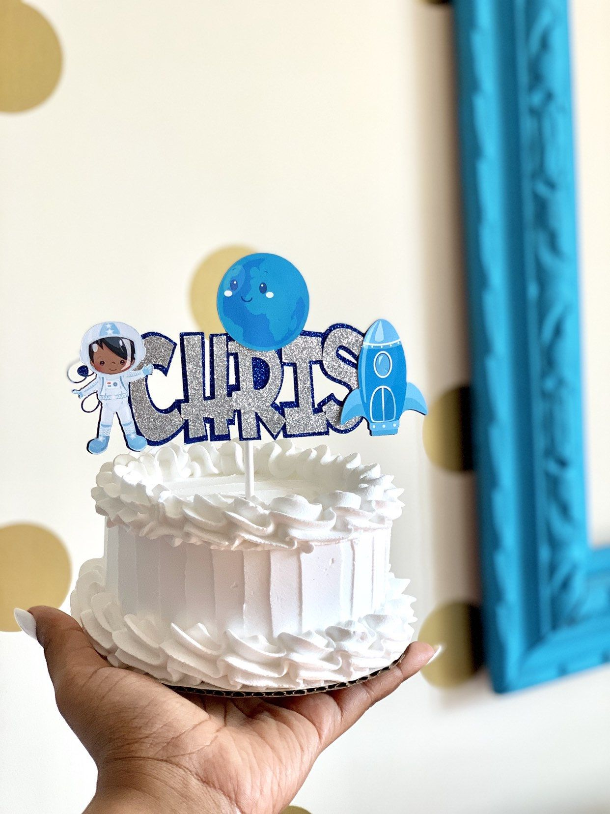 Outter space Cake topper, outter space party, outter space