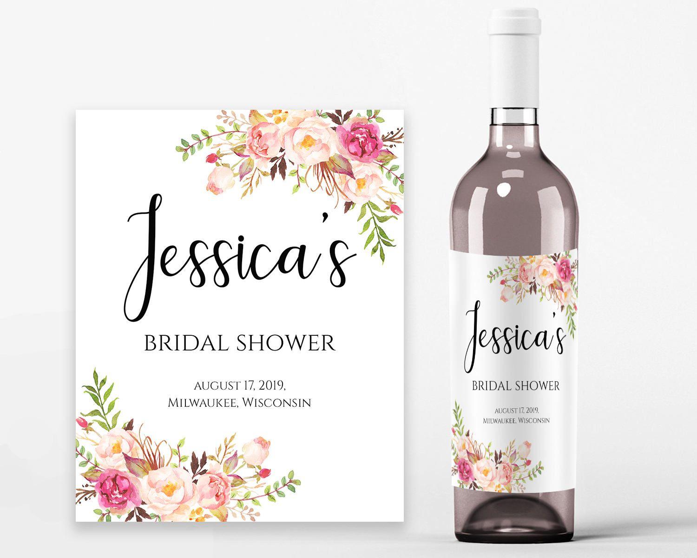 Bridal Shower Wine Labels Bridal Wine Printable Wine Label Etsy In 2021 Bridal Shower Wine Label Wine Bottle Label Template Bridal Shower Labels