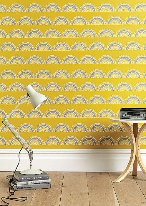 kleurig retro en geometrische behang van sianelin com wall paper rh za pinterest com