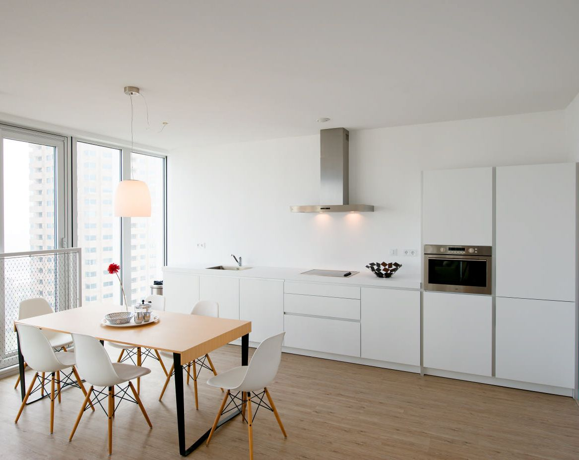 Bulthaup b1 installation with a view in rotterdam the for Bulthaup kitchen cabinets