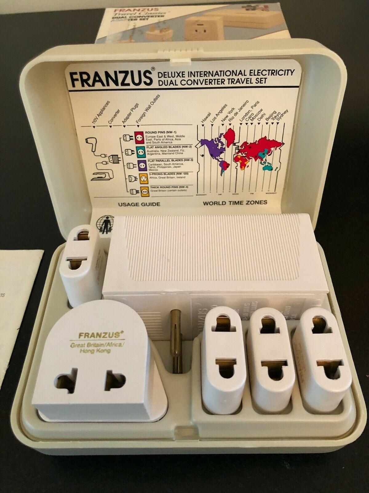 Franzus Travel Worldwide Dual Converter Adapter Set 1650w Model Fr 1650e Ideas Of Travel In 2020 Universal Power Adapter Universal Travel Adapter Universal Adapter