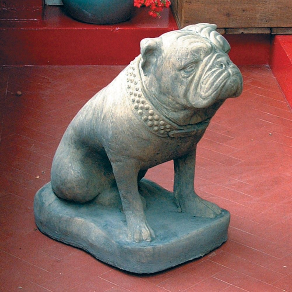 Bulldog Dog Statue Sculpture Large Garden Ornament. Buy Now Atu2026