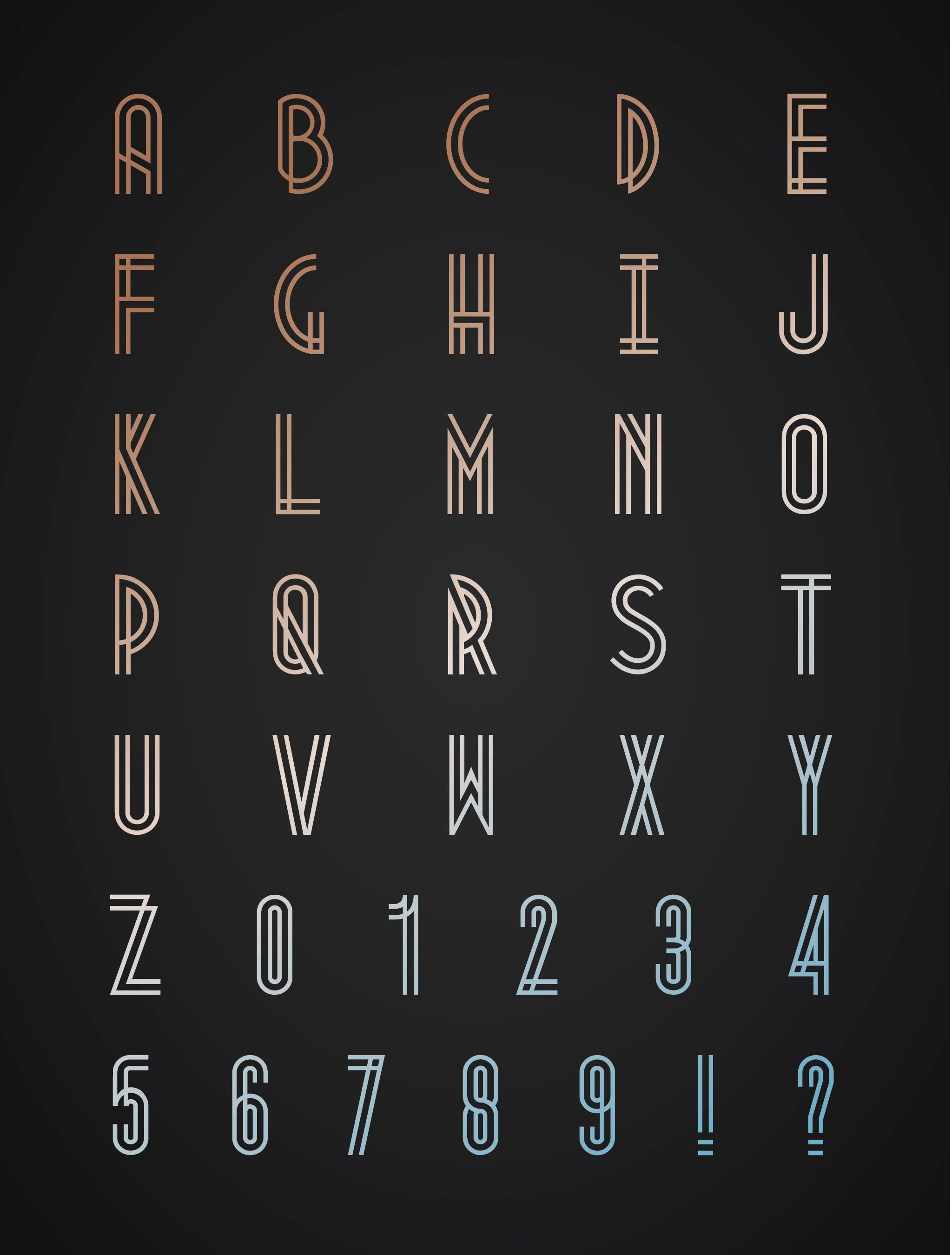 A Font Inspired By The Industrial Movement Of 1920s