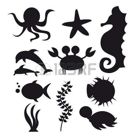 Fish Silhouette Animals Black And White Animal Stencil Animal Silhouette