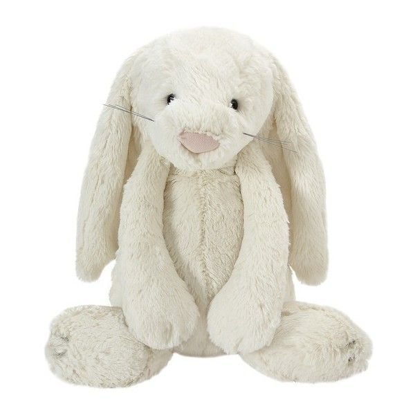Large Cream Bashful Bunny Soft Toy (31 AUD) ❤ liked on Polyvore featuring toys
