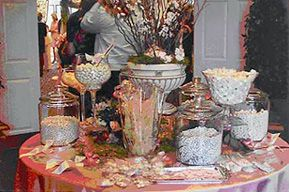 White Silver Candy Buffet Ideas For Wedding Receptions