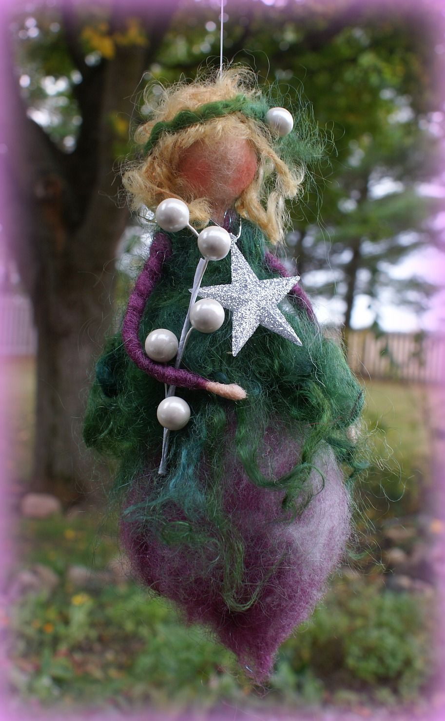 Purple Christmas fairy