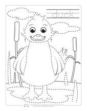 Farm Animals Tracing Coloring Pages, #Animals #Coloring #