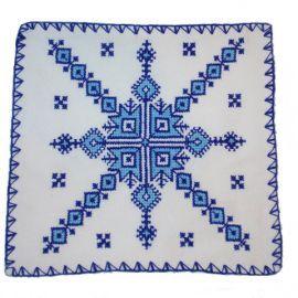 housse de coussin marocain avec motif berb re brod la. Black Bedroom Furniture Sets. Home Design Ideas