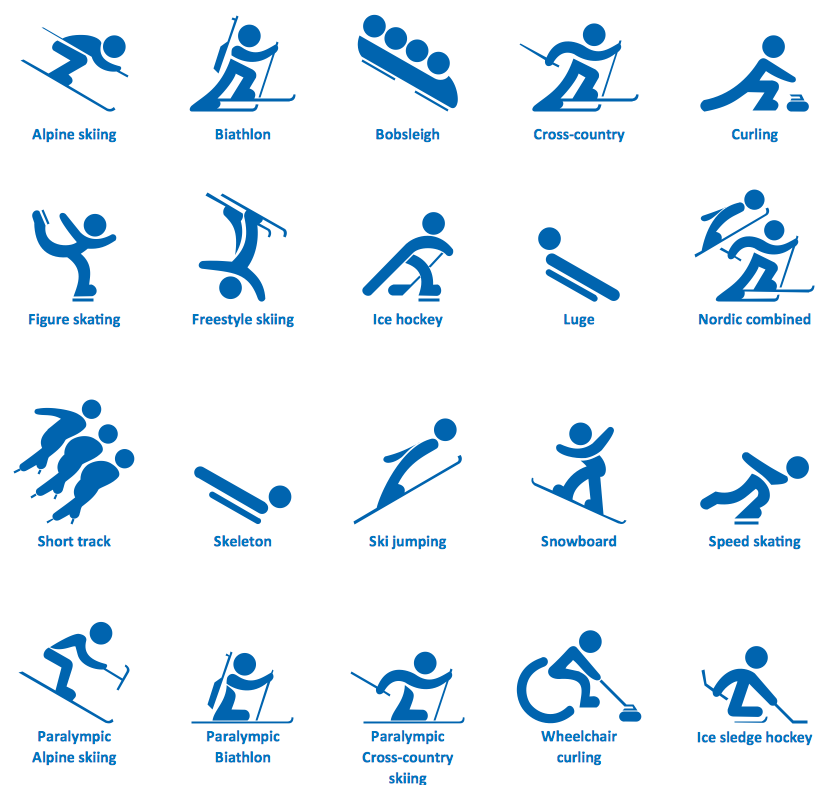 Winter Sports Solution ConceptDraw. Winter games
