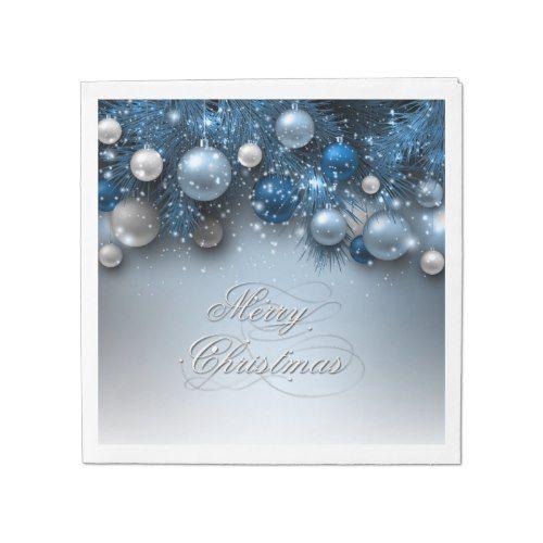 christmas holiday ornaments blues napkin - Christmas Blues Lyrics