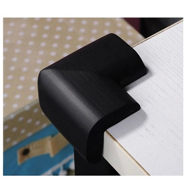 4 x Round Soft Child Baby Safety Corner Edge Cushion Desk Table Cover Protector