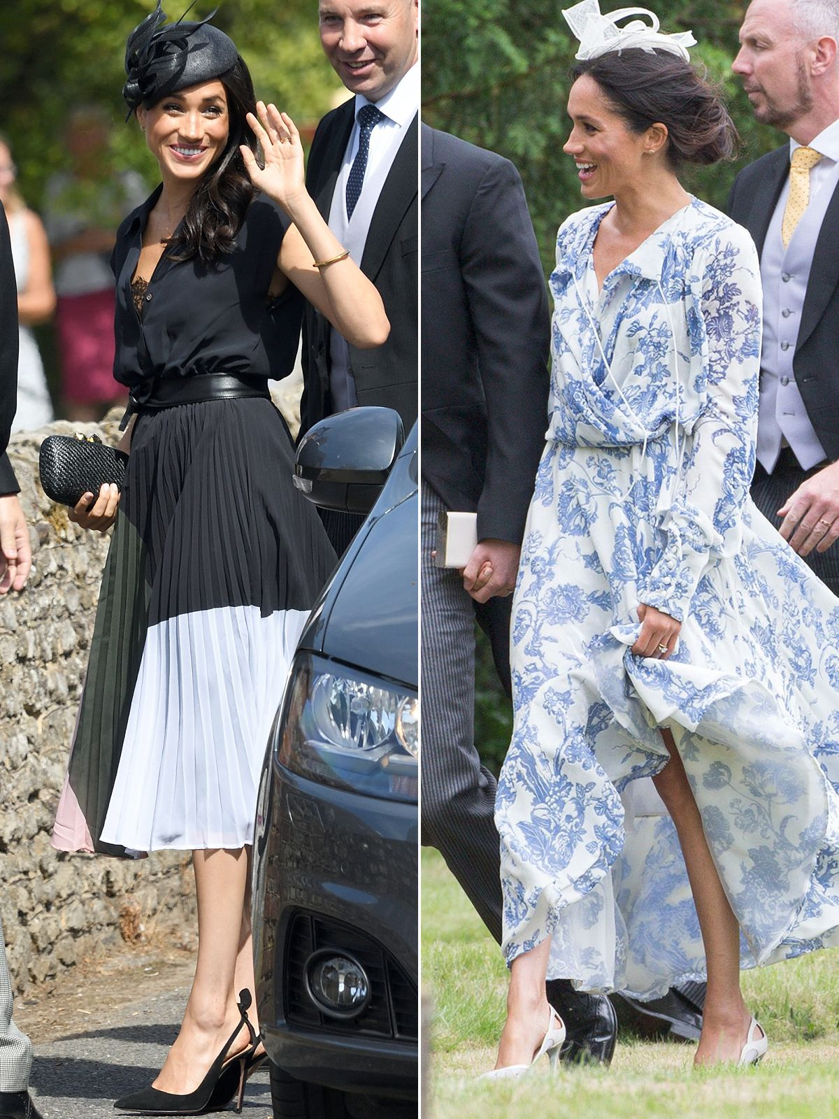 See Meghan Markle S Two Very Different Wedding Guest Looks Royal Wedding Guests Outfits Royal Wedding Outfits Wedding Guest Looks [ 1600 x 1200 Pixel ]