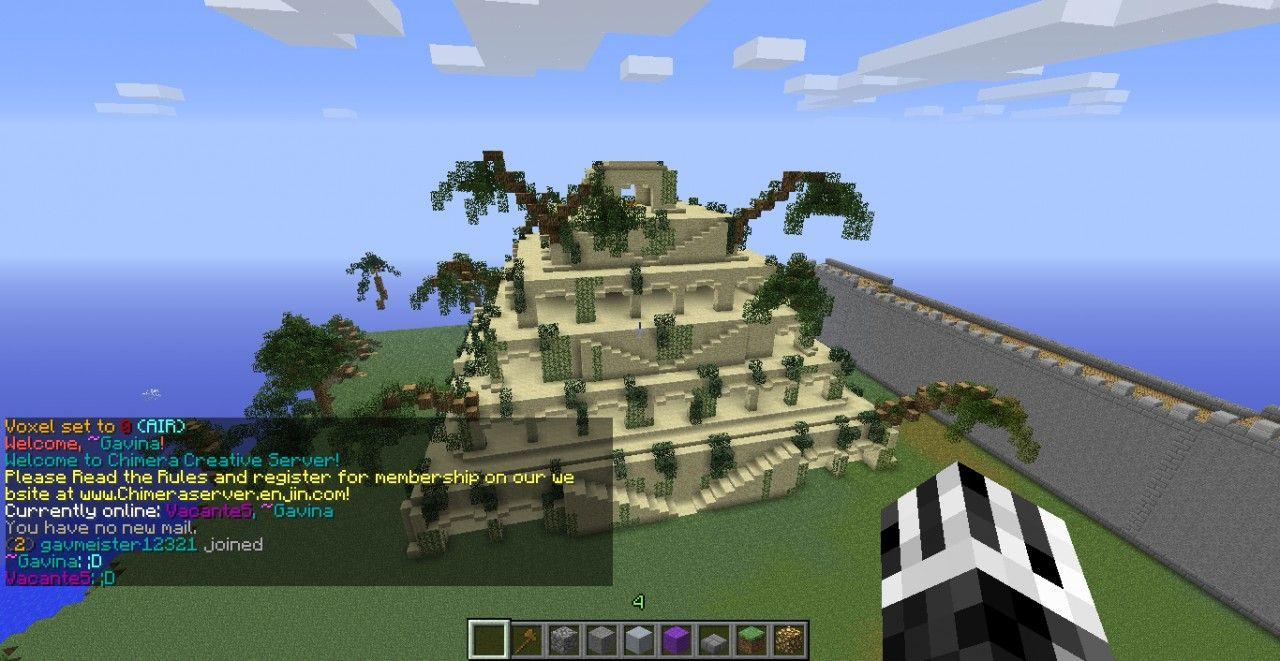 Hanging Gardens Of Babylon Minecraft Project Gardens Of Babylon Minecraft Projects Hanging Garden