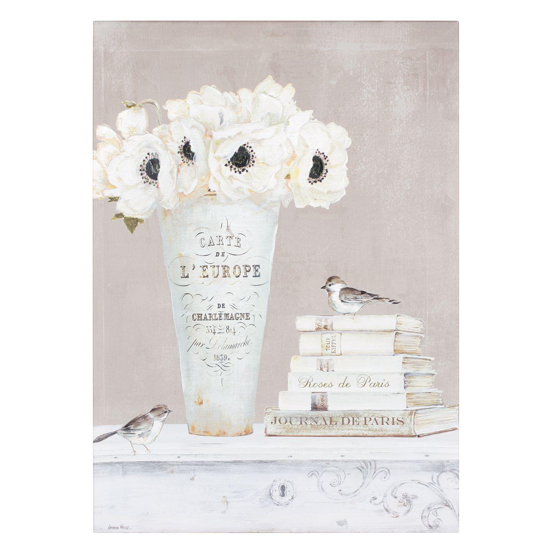 Fleur Blanche Canvas Kathryn White White Canvas Art White Painting Farmhouse Art