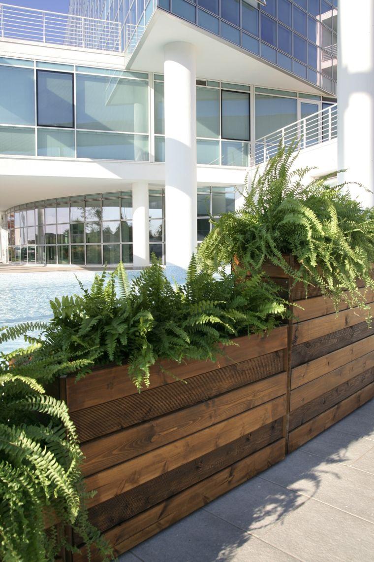 Jardineras y macetas algunas ideas interesantes deco - Plantas jardineras exterior ...