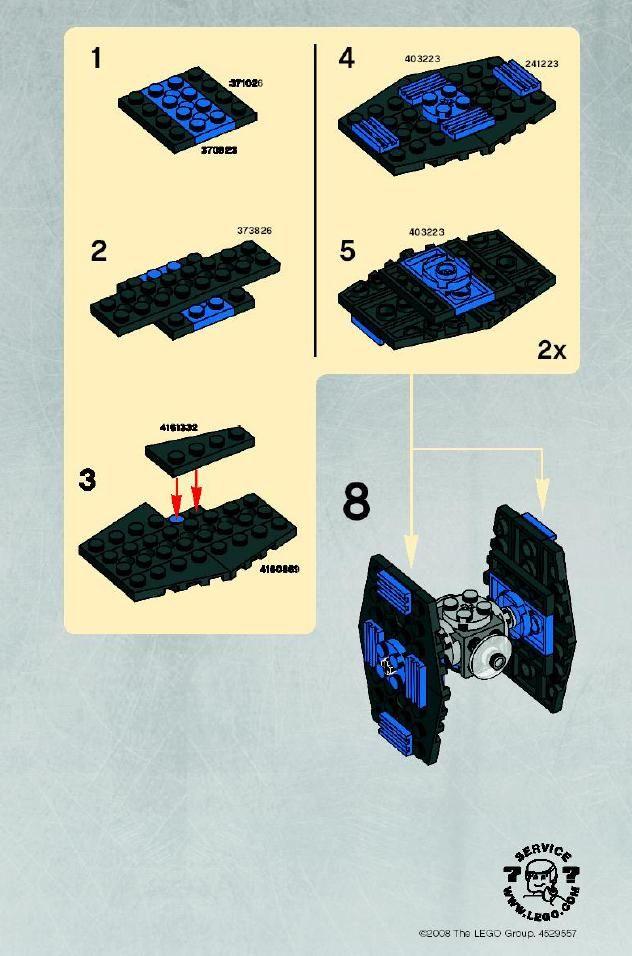 Star Wars Mini Mini Tie Fighter Lego 8028 Legomaniac