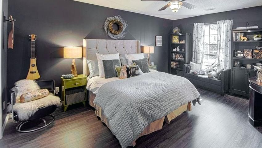 walls bedroom eclectic master bedroom with black walls grey rh pinterest com