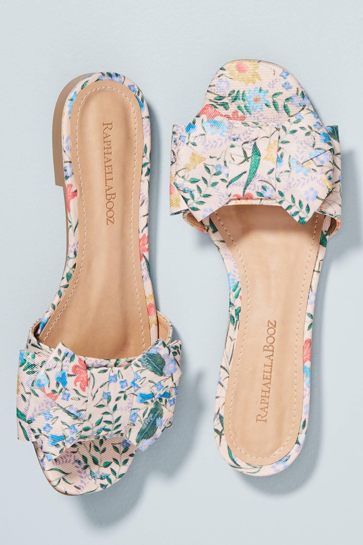 a61ff79c2d2 Raphaella Booz Bow-Front Slide Sandals