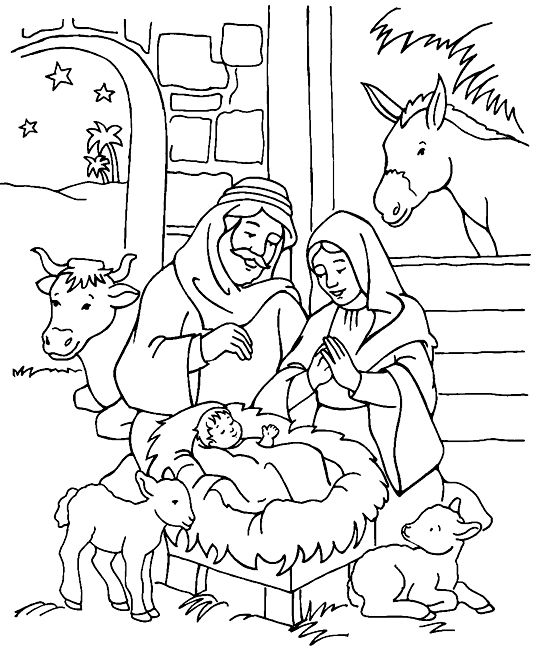 Nativity Coloring Page Nativity Coloring Pages Jesus Coloring