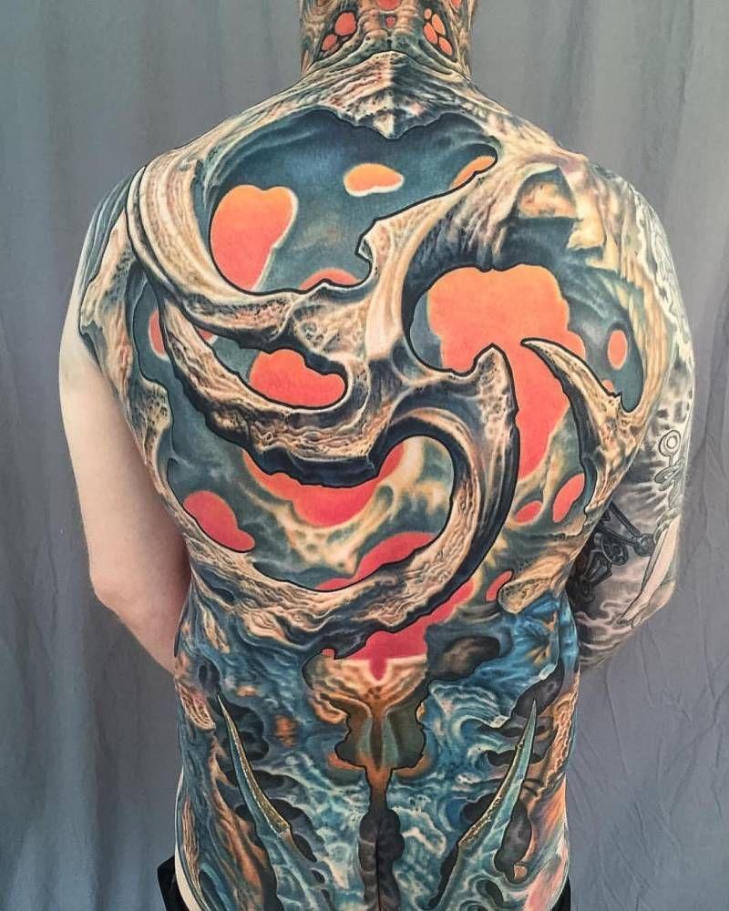 8d8e15e6a Biomechanical Fullback Tattoo - GUY AITCHISON   DREAM ACCES