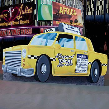 Our Exclusive Taxi Cab Standee Has The Look Of An Authentic Big
