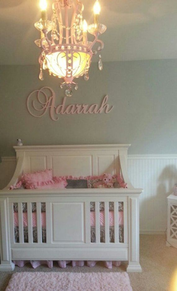 Wall Decor Glittered Wooden Sign Letters For Nursery Decorative Kids Room