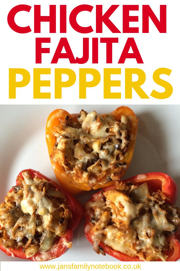 Chicken Fajita Stuffed Peppers Recipe Jan S Family Notebook Stuffed Peppers Healthy Chicken Recipes Peppers Recipes