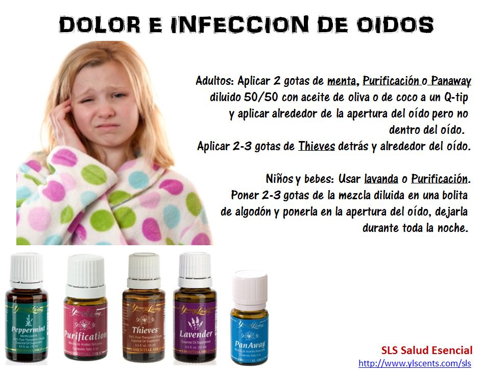 Dolor e infecciones de oido - aceites young living..