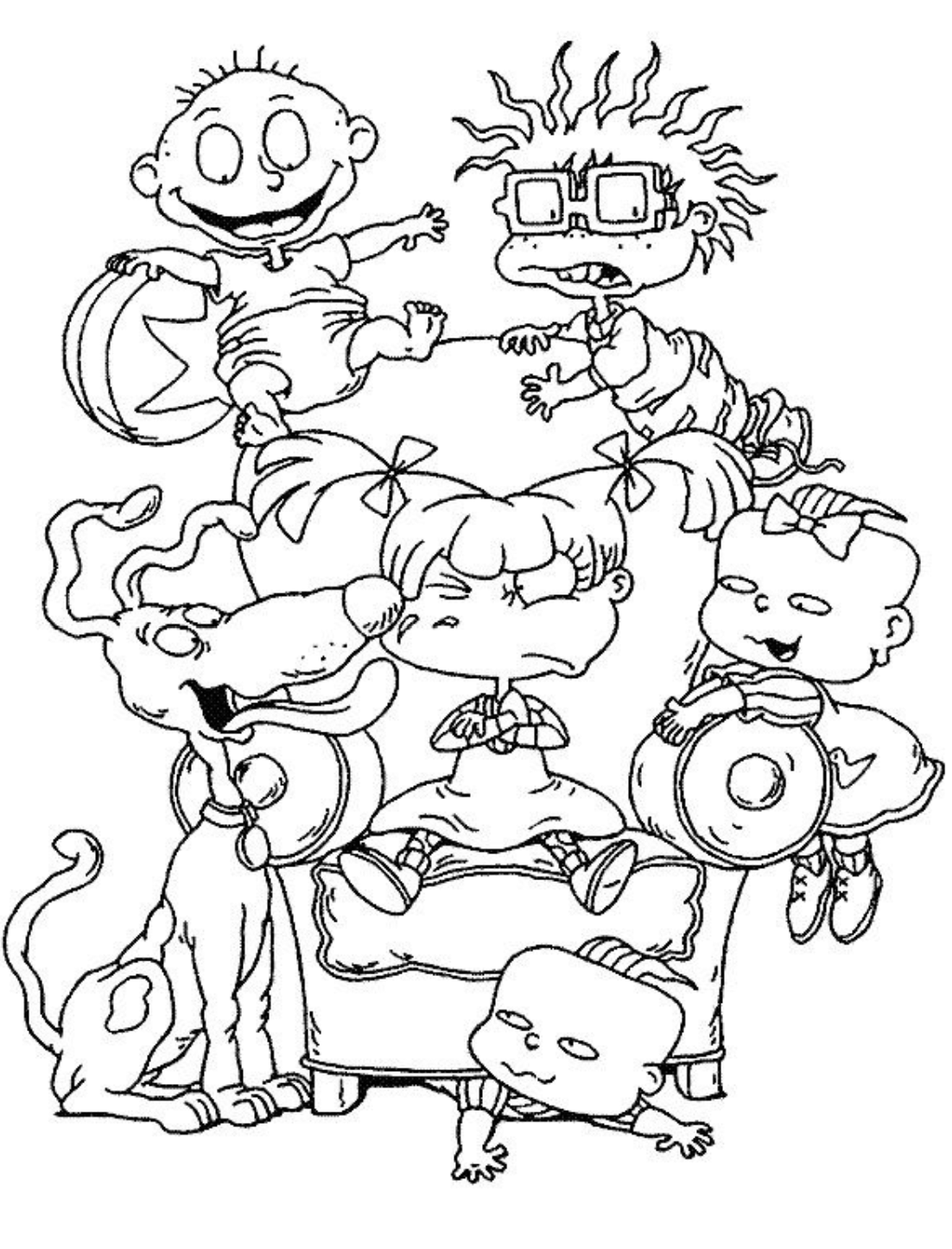 Rugrats Coloring Page Cartoon Coloring Pages Cute Coloring Pages Coloring Pages For Kids