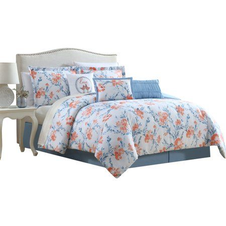 Carmela 6 7 Piece Comforter Set Full Blue Comforter Sets