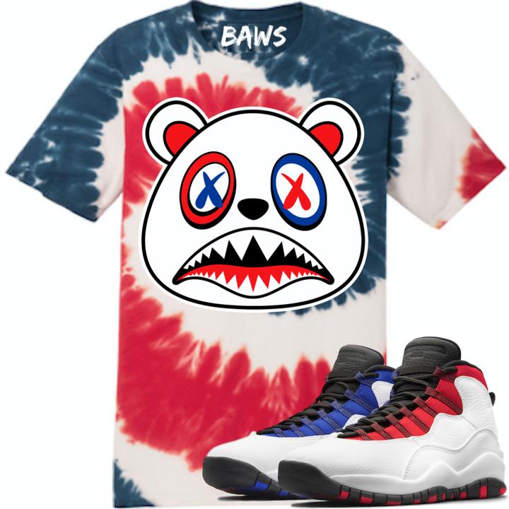 9330c1dd5ab2d3 Born A Wild Soul T-Shirt USA Baws Flag Tye Dye Shirt - Jordan 10 Westbrook