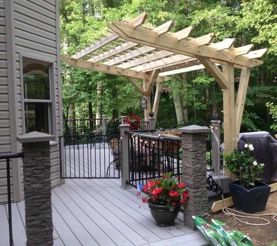 Pergola Edge Designs: Cantilevered Pergola -- DIY Designed And Built