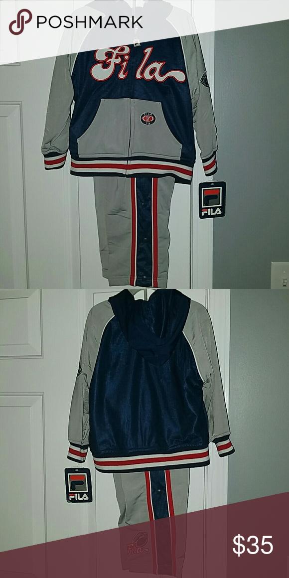 fila jogging suits. fila jogging suit never worn size 4 boy fila matching sets suits