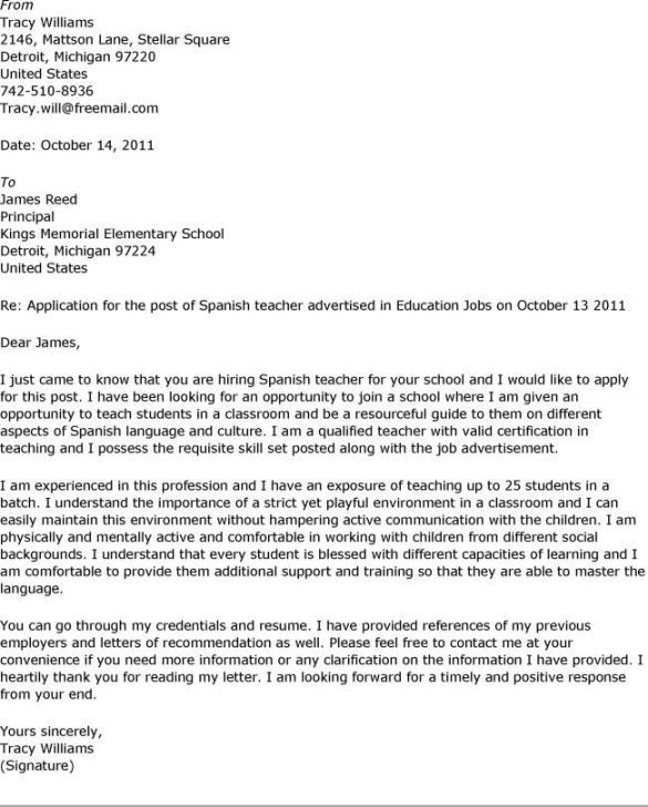 Cover Letter Format Example resume examples Pinterest - cover letter in spanish