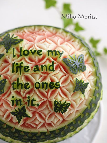 watermelon carving.