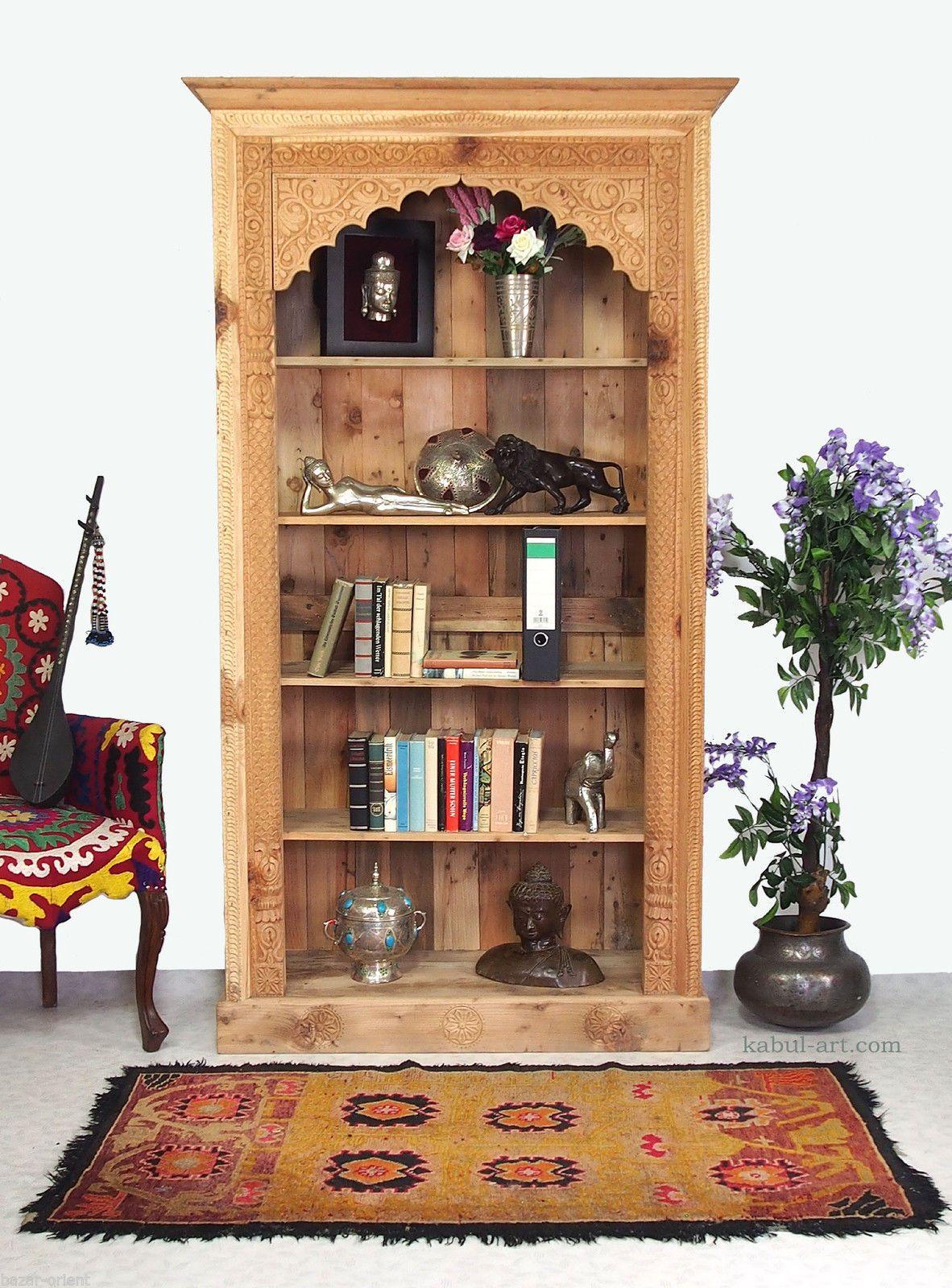 200x100 cm orient Landhaus Regal Bücherregal Wandregal Schrank bauernschrank NTU | eBay
