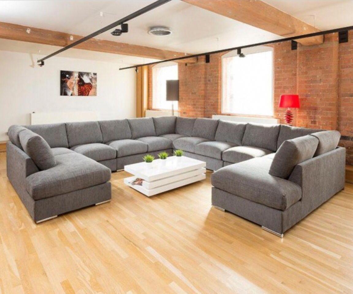 Wrap Around Corner Sofa In Grey Extra Large Corner Sofas Unique Sofas U Shaped Sofa