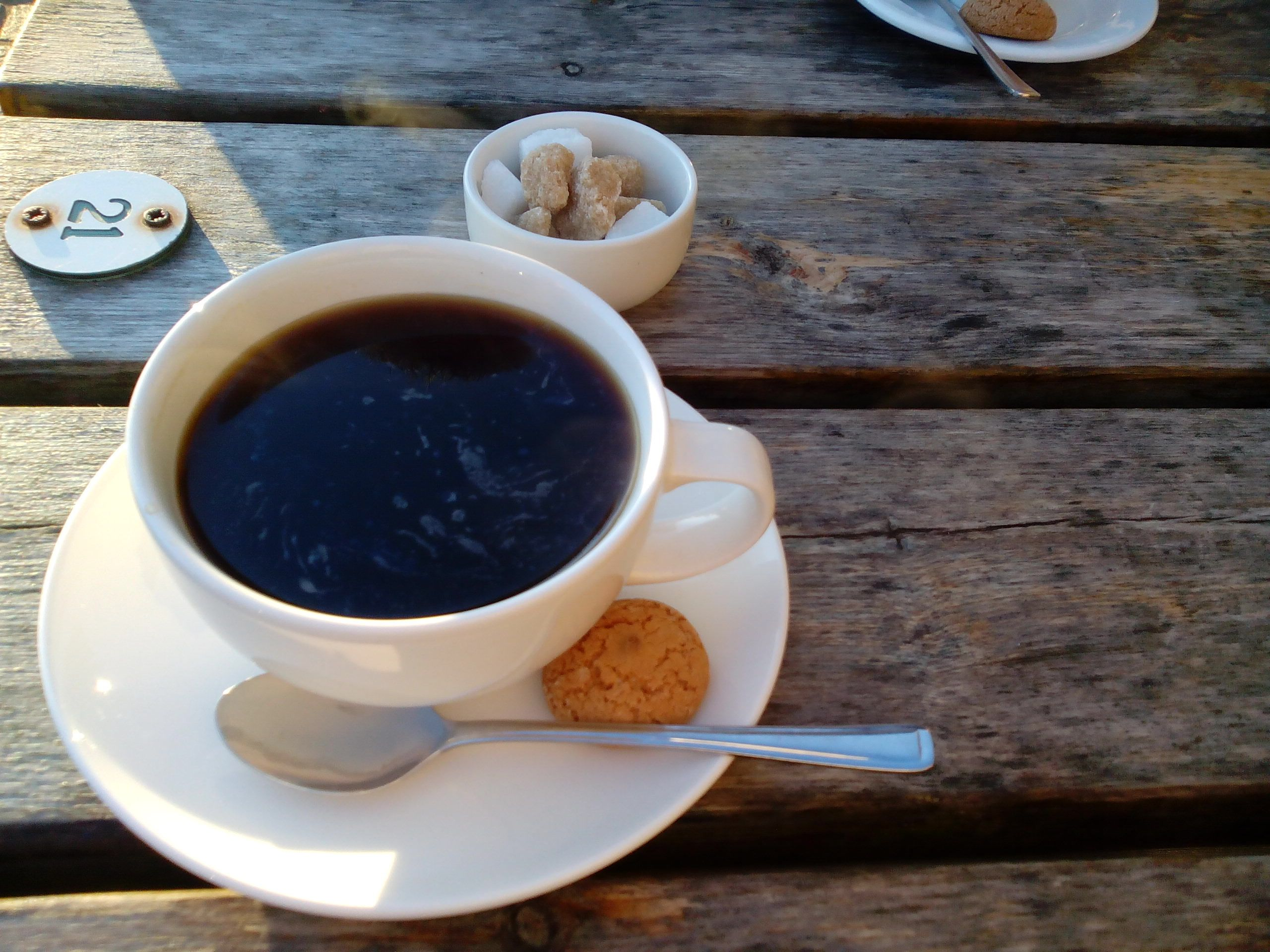 Black coffee. Caffè Americano, or Americano (English: American coffee)