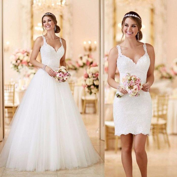 0b6745cee Otro simpático ejemplo de vestido de novia desmontable