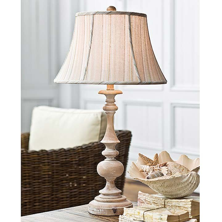 Wood Spindle Lamp With Whitewashed Natural Finish New Table Lamp Wood White Floor Lamp Lamp