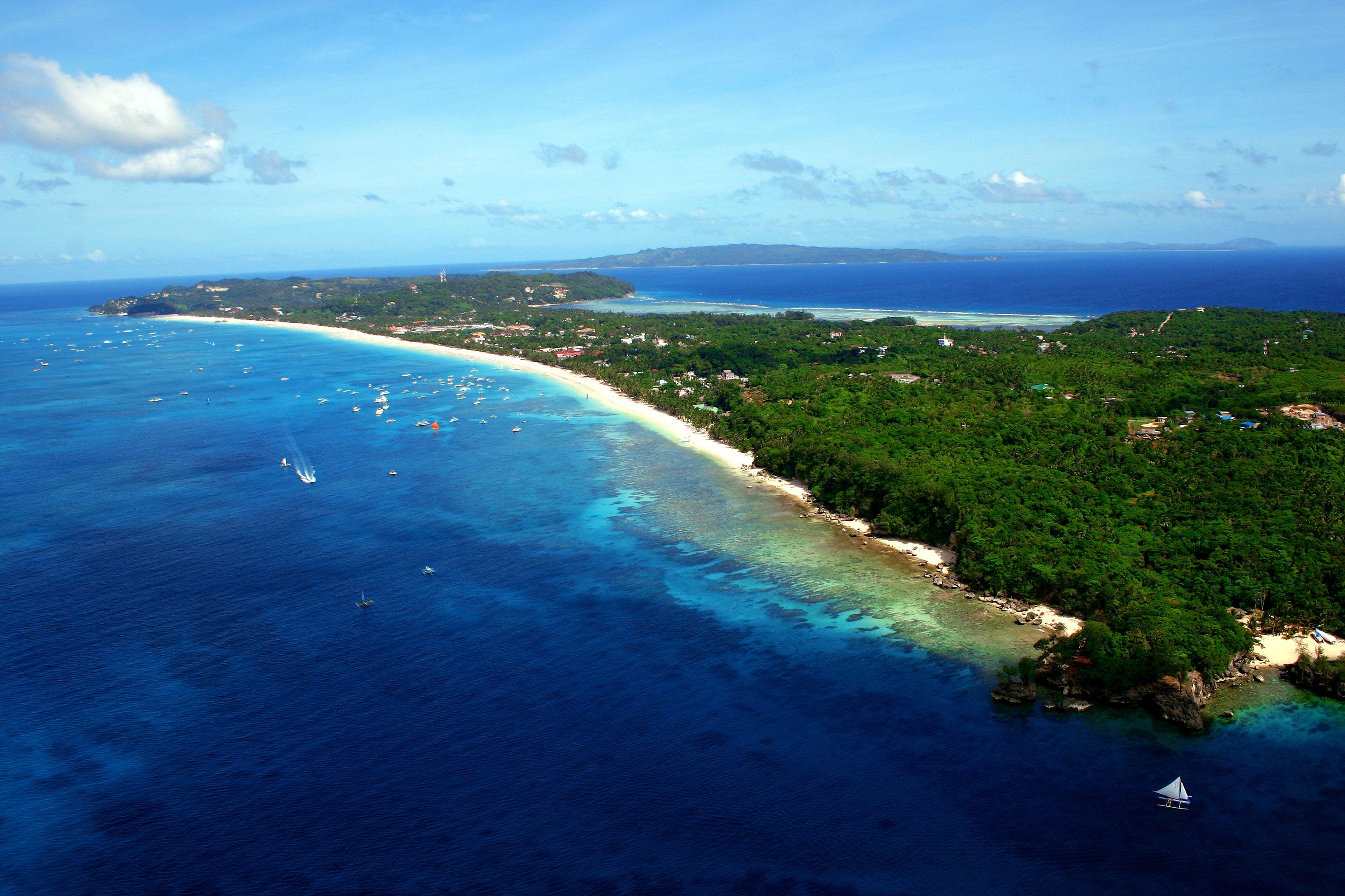 boracay is a small tropical island paradise located in the western