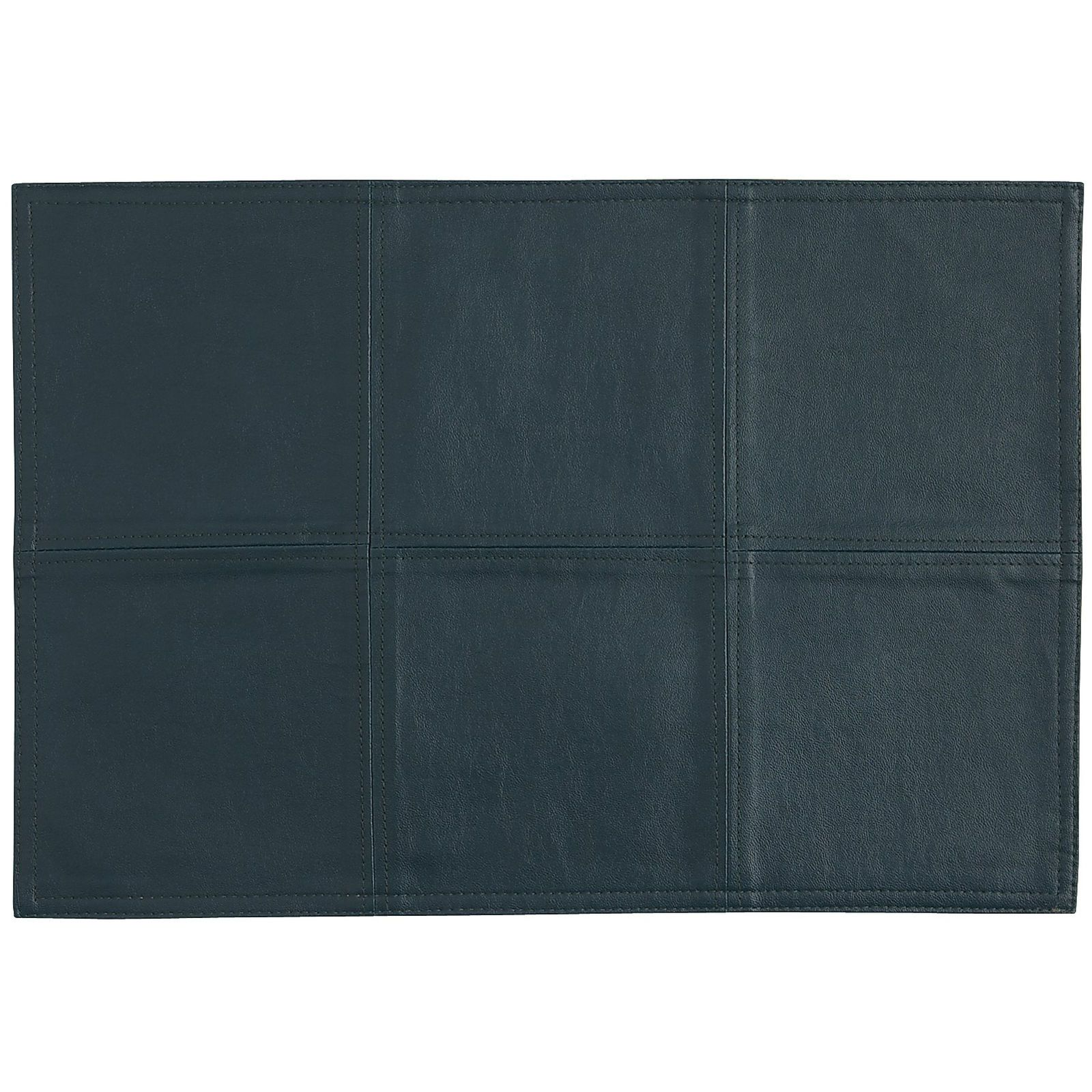 Faux Leather Reversible Placemat Avocado Teal Faux Leather Leather Faux