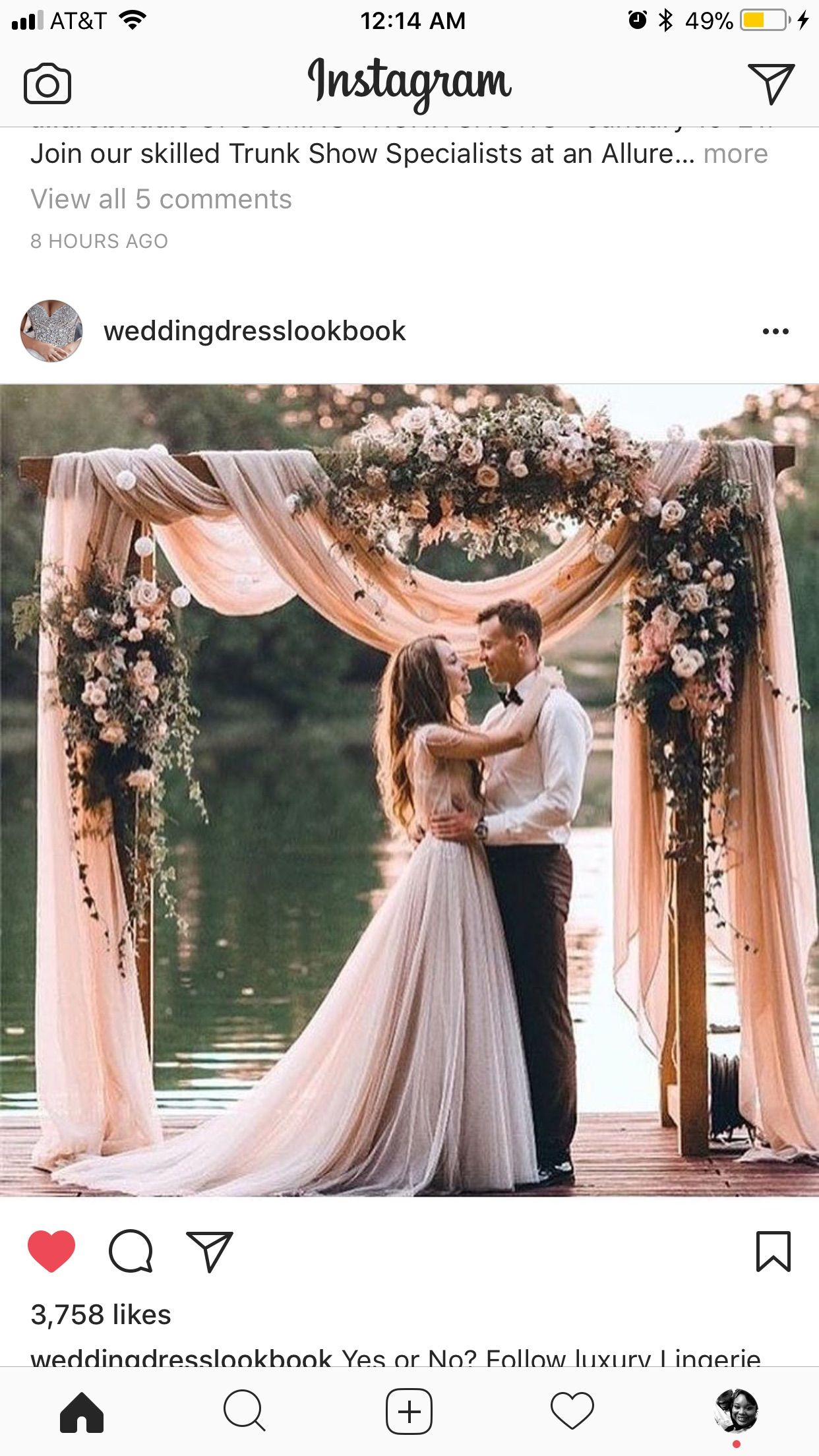 Black on black wedding decor  I want a dress similar to this With the bottom of the dress dip