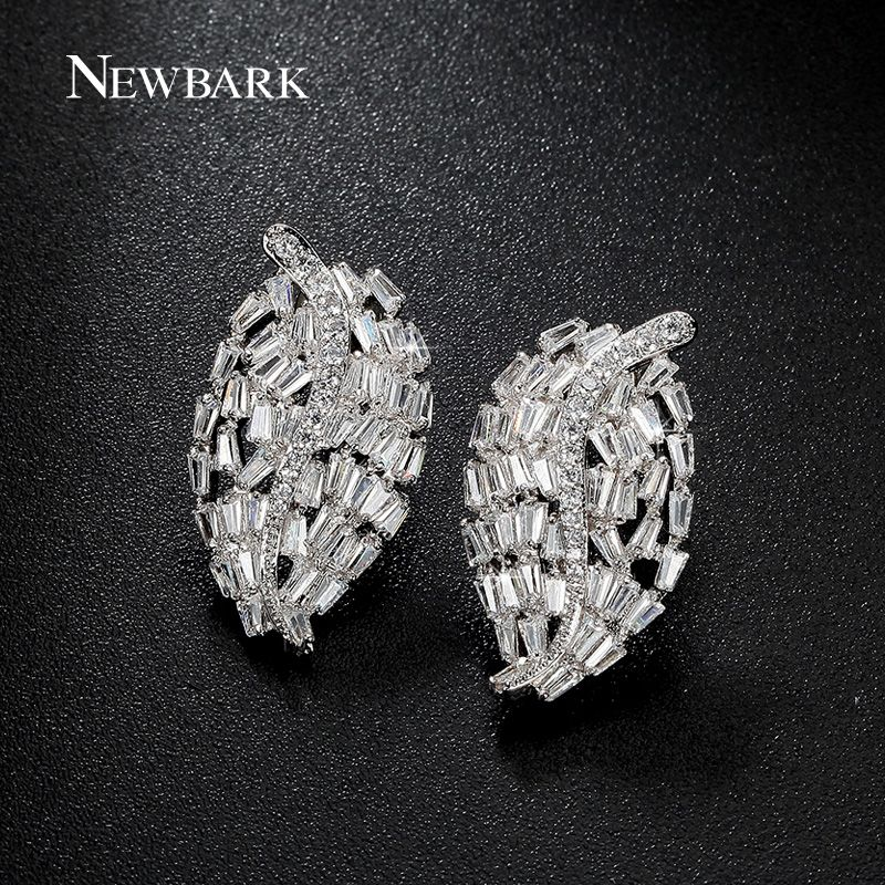 JewelryFruit Gold Crystal Cubic Zirconia Diamond Earrings
