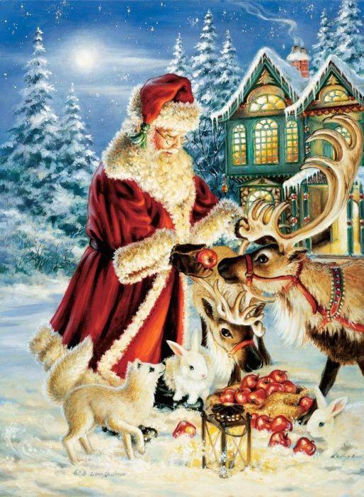 Открытка на рождественскую сказку