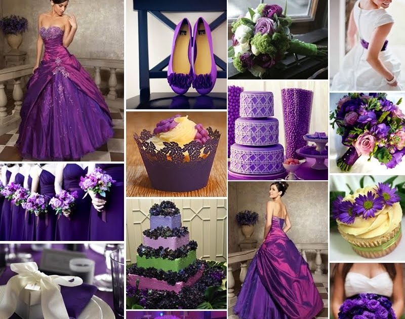 We chose purple as our accent colour for the wedding - bridesmaid ...