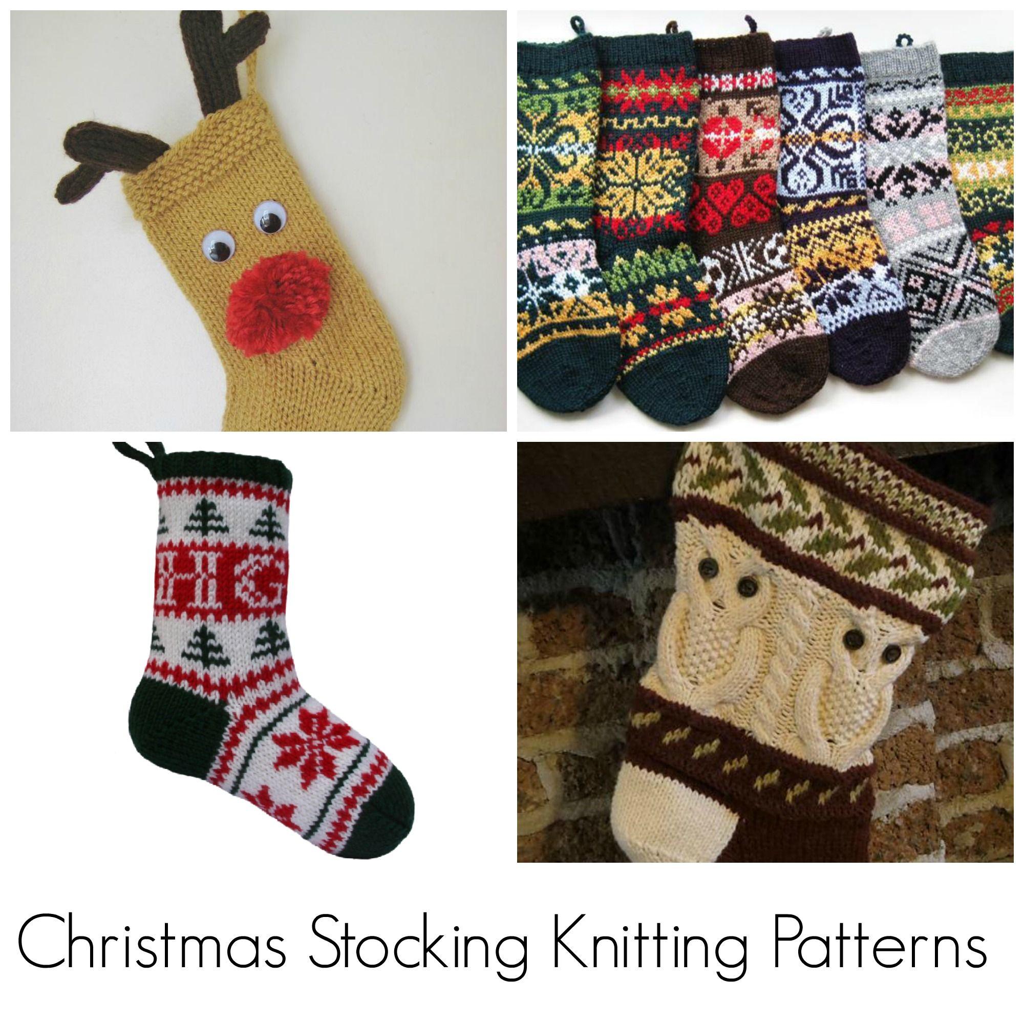 Top Christmas Stocking Knitting Pattern Picks | Knit patterns ...