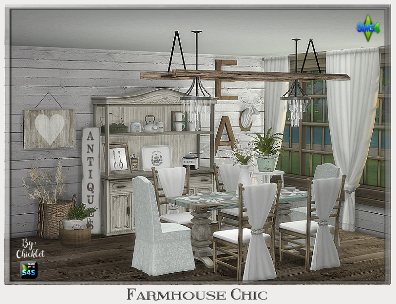 Ts4 Farmhouse Chic Dining Room Farmhouse Chic Dining