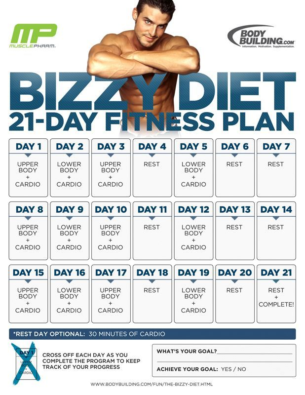 Bodybuilding.com - The Bizzy Diet 21-Day Fitness Plan: Overview workout  plans, workouts #workout #fitness